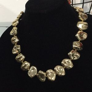 Two Gold Chunky Necklaces